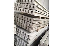 Concrete fence posts and base panels