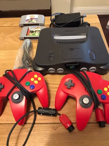 Nintendo n64 console with games