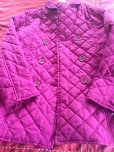 Pink fall coat size 8 Gymboree