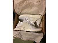 Adidas NMD XR1 Primeknit Triple White UK10.5 BNIB with Tags