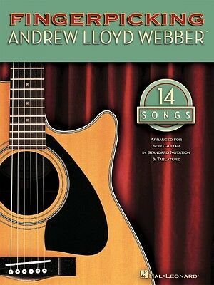 Fingerpicking Andrew Lloyd Webber Sheet Music Guitar Solo Book NEW (Andrew Lloyd Webber Music Book)