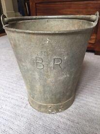 British Rail Vintage metal bucket