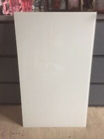 White ikea frosted glass table top