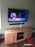 Installation TV + Support mural extensible (pivotant)