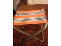 Vintage 60's camping stools x4