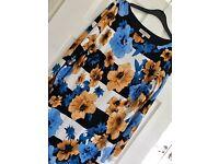 Flower print dress.