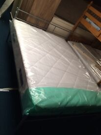 Steel frame double beds reduced to clear sale