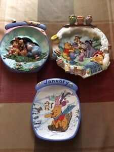 3 Bradford Exchange Winnie the Pooh Collector Plates