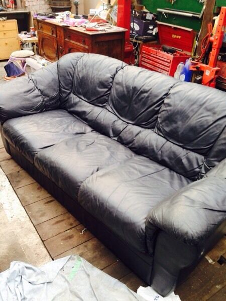3 and 2 leather sofas