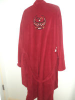 Men's Red Bath Robe with Native Embroidery