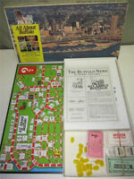 VINTAGE ALL ABOUT BUFFALO BOARD GAME - NICE + COMPLETE FROM 1981