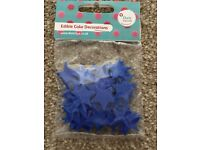 Edible cake decorations blue stars