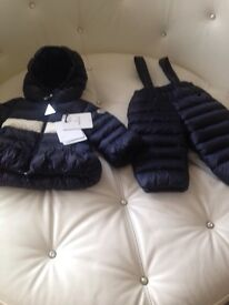 Moncler authentic baby girls suit. New with tags 6 to 12 m. Was £370 want £160