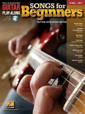 Songs for Beginners - Guitar Play-Along Book and Audio NEW 000701917 on Rummage