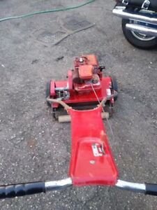 Antique reel lawn mower from late 60s, Motorized
