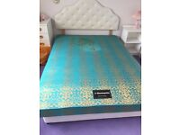 Double divan bed base and mattress