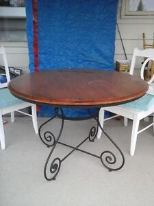 Wood and Iron Table