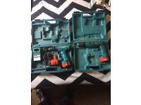 2 set box with Makita tools