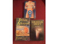 Three signed first edition fiction books. Graham Swift, Peter Ackroyd and Dan Kavanagh