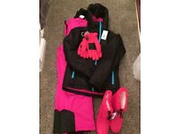 Complete Kids 11 - 12 years Ski Outfit - Brand New