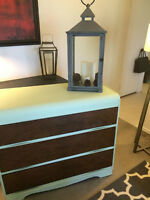 Stunning Refinished Waterfall Wood Antique Dresser!