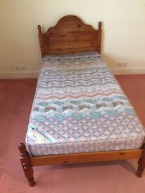 Pine single beds with mattress