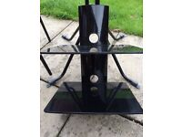 Black glass wall shelf email only