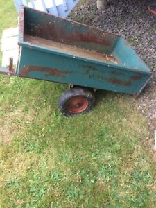 Utility trailer for lawn tractor