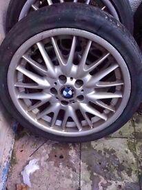 """Bmw mv1 18"""" alloy wheel single wheel REAR 8.5j Can Post (1 wheel)"""