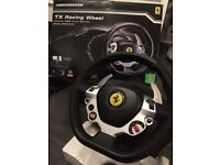 Pro thrustmaster 458 racing wheel with pedals
