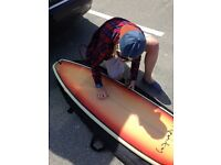 Surf board just under 7ft