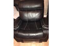 Black recliner chair.