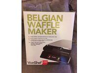 Von Shef Belgian Waffle Maker - as new