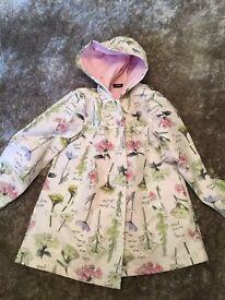 Girls fleeced lined rain coat age 5-6 years