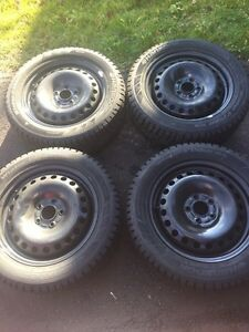 Brand New Hankook Winter Tires On Rims 205/55R16 Kitchener / Waterloo Kitchener Area image 2