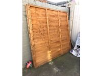 6ft x 6ft Feather edge fence panels
