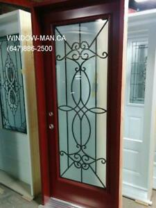 Entry Glass Front Entrance Iron Door  Top Quality