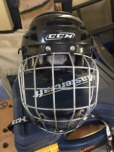CCM Hockey Helmet With Face Cage - Youth Small