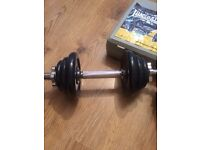 Lonsdale Dumbbell Set - 18Kg Cast Iron