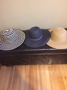 New large brim hats (never worn)