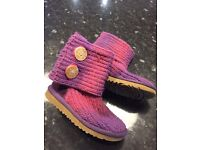 Children's cardigan Ugg boots