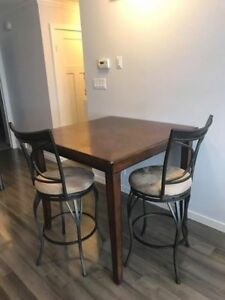 High Dining Table with 3 Chairs