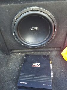 "12"" realm subwoofer with 200 watt amp $100"
