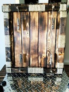Floating rustic picture frame