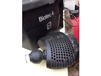 Oase filter and pump for koi pond