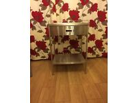 Stainless steel medical trolley with draw