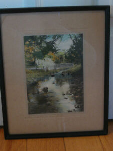 LOVELY OLD VINTAGE PROFESSIONALLY FRAMED PHOTOGRAPH