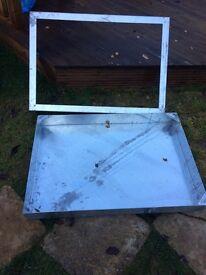 Clark Manhole Cover & Frame 900mm x 600mm x 100mm 10T Recessed Blk Paviour Clks 795R/100