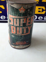 OLD AND RARE SUPERTEST OIL CAN (1 QUART) METAL