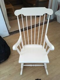 Wooden painted rocking chair
